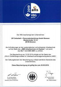 AMS-Zertifikat 2019