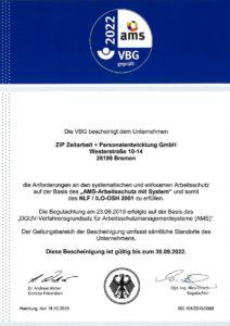 AMS-Zertifikat 2022